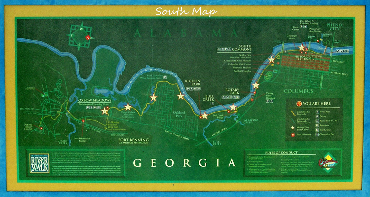 on map of the riverwalk